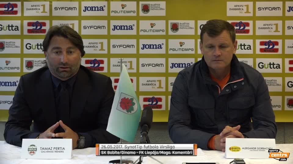VIDEO: SK Babīte/Dinamo - FK Liepāja/Mogo 1:2 preses konference (26.mai.)