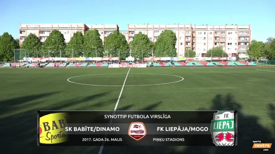 VIDEO: SK Babīte/Dinamo - FK Liepāja/Mogo 1:2 spēles momenti (26.mai.)