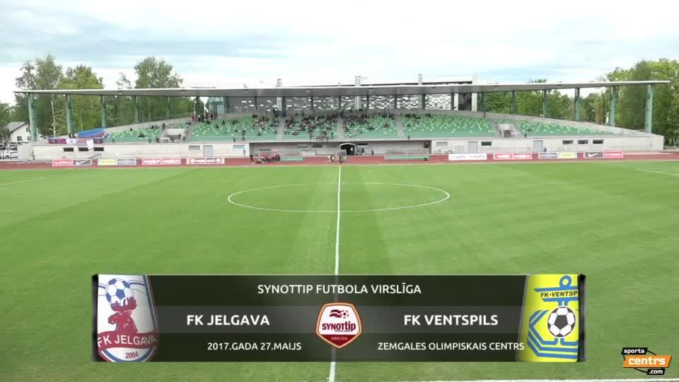 VIDEO: FK Jelgava - FK Ventspils 1:0 spēles momenti (27.mai.)