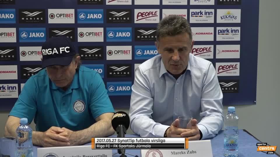 VIDEO: Riga FC - Spartaks Jūrmala 1:1 preses konference (27.mai.)
