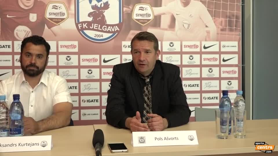 VIDEO: FK Jelgava - FK Ventspils 1:0 preses konference (27.mai.)