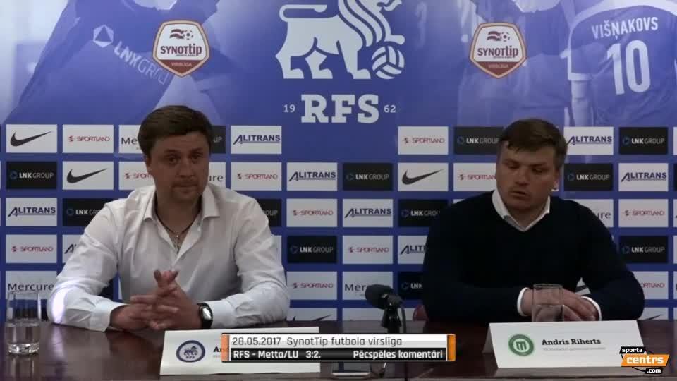 VIDEO: RFS - FK Metta/LU 3:2 preses konference (28.mai.)