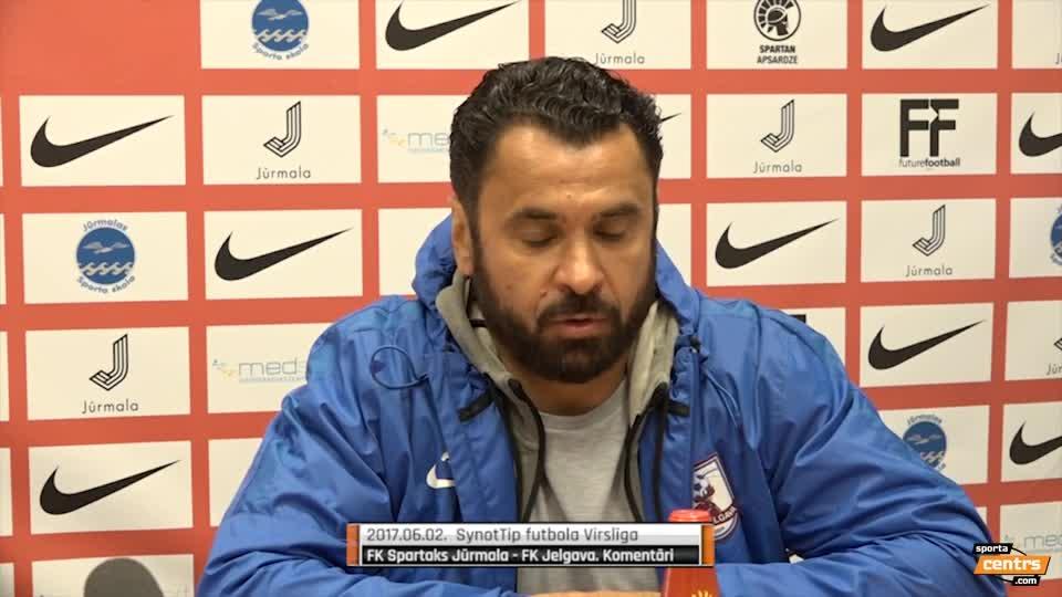 VIDEO: Spartaks Jūrmala - FK Jelgava 1:1 preses konference (2.jūn.)