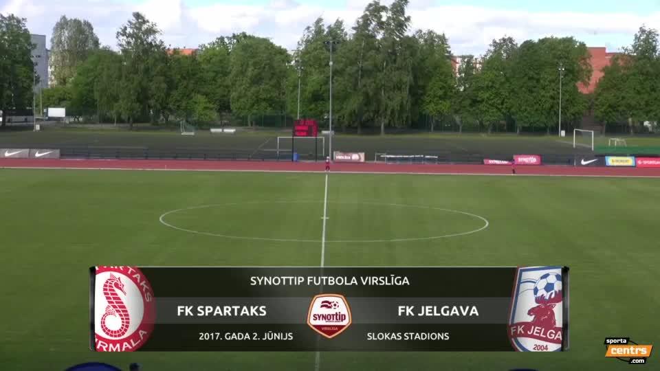 VIDEO: Spartaks Jūrmala - FK Jelgava 1:1 (2.jūn.)