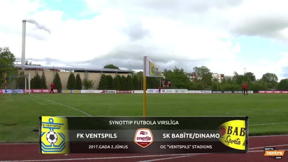 VIDEO: FK Ventspils - SK Babīte/Dinamo 1:0 spēles momenti (2.jūn.)