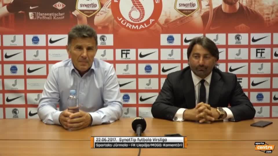 VIDEO: Spartaks Jūrmala - FK Liepāja/Mogo 1:1 preses konference (22.jun.)