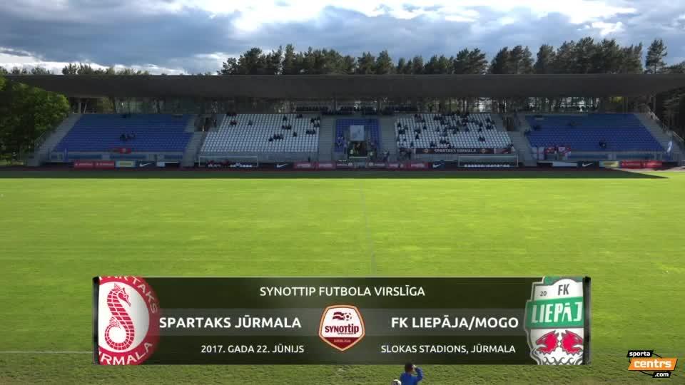VIDEO: Spartaks Jūrmala - FK Liepāja/Mogo 1:1 spēles momenti (22.jun.)