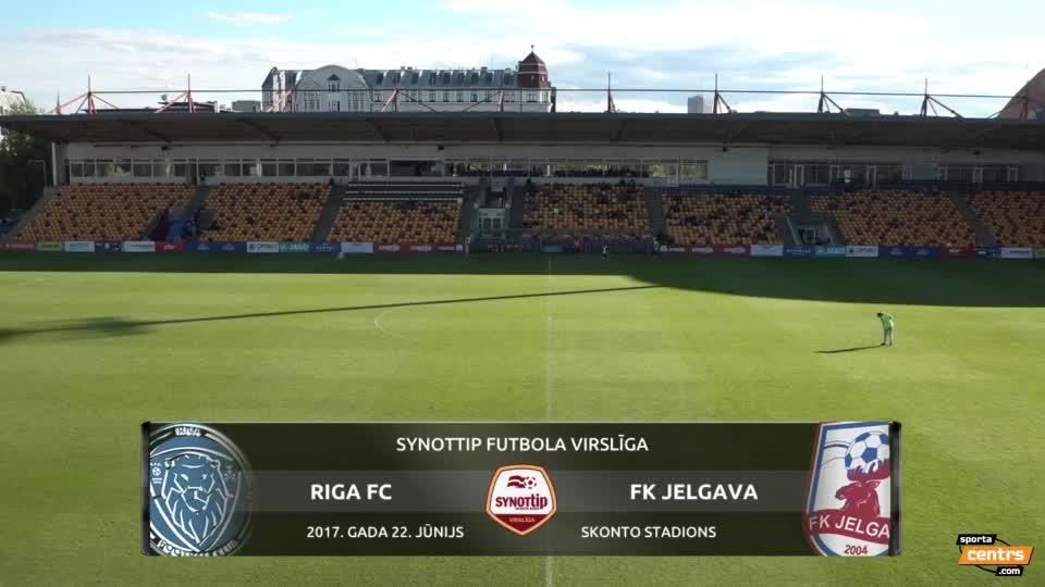 VIDEO: Riga FC - FK Jelgava 1:0 spēles momenti (22.jun.)