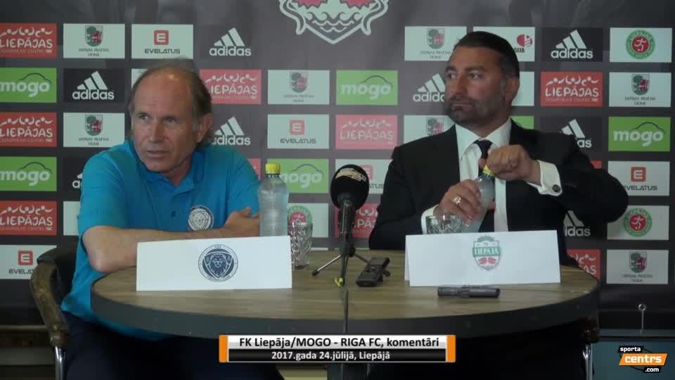 VIDEO: FK Liepāja/Mogo - Riga FC 2:1 preses konference (24.jūl.)