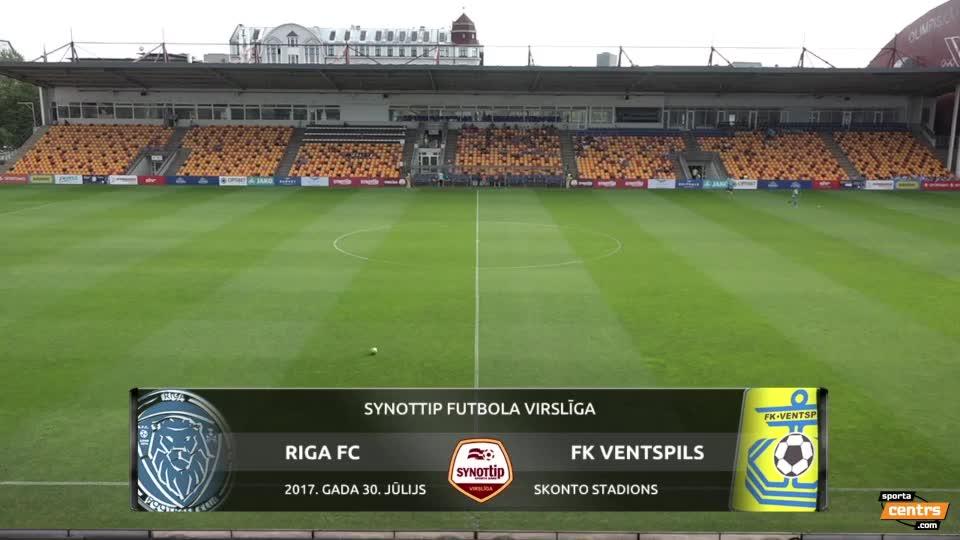 VIDEO: Riga FC - FK Ventspils 0:2 spēles momenti (30.jūl.)