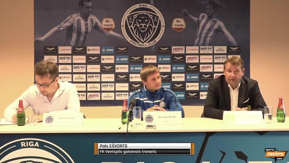 VIDEO: Riga FC - FK Ventspils 0:2 preses konference (30.jūl.)