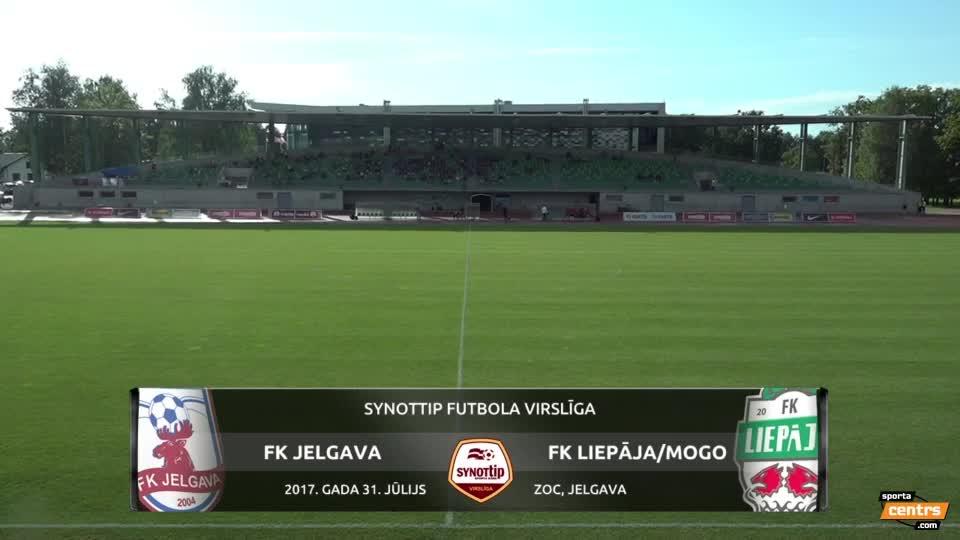 VIDEO: FK Jelgava - FK Liepāja/Mogo 1:3 spēles momenti (31.jūl.)