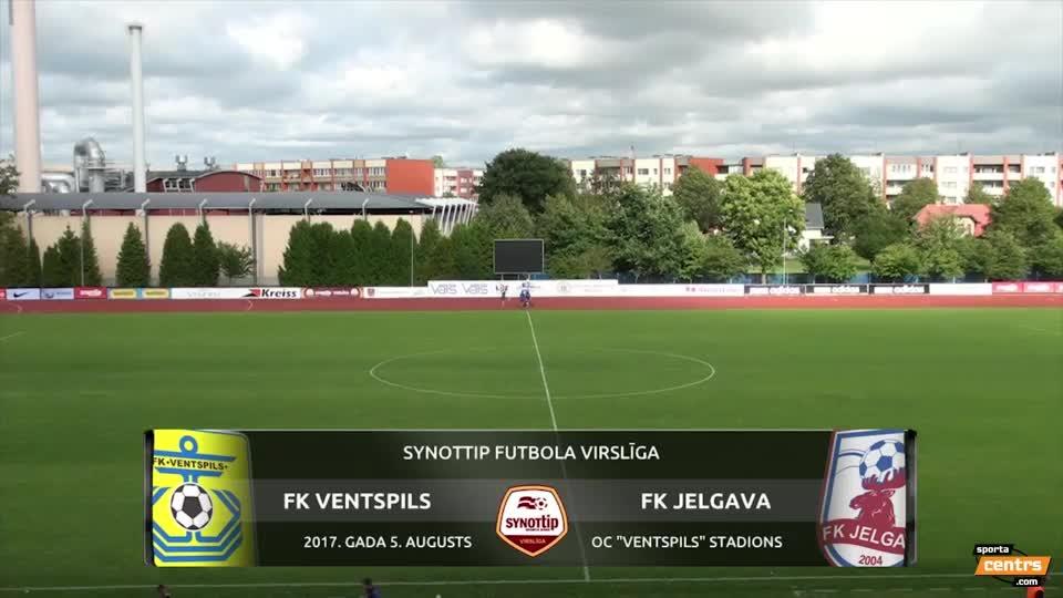 VIDEO: FK Ventspils - FK Jelgava 1:0 spēles momenti (5.aug.)