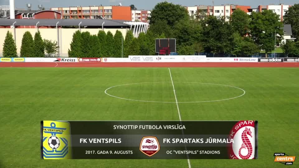 VIDEO: FK Ventspils - Spartaks Jūrmala 4:0 spēles momenti (9.aug.)