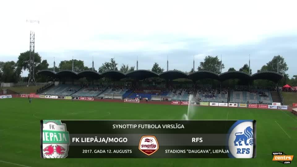 VIDEO: FK Liepāja/Mogo - RFS 2:0 spēles momenti (12. aug.)