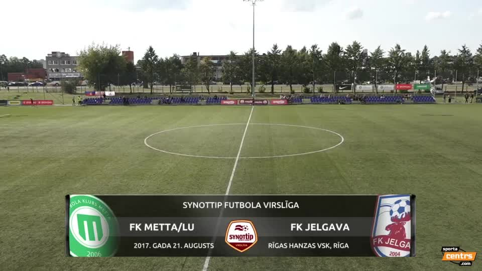 VIDEO: FK Metta/Latvijas Universitāte  - FK Jelgava 0:0 spēles momenti (21.aug.)