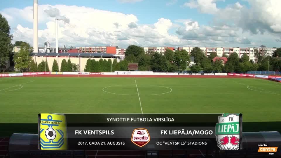VIDEO: FK Ventspils - FK Liepāja/Mogo 0:0 spēles momenti (21.aug.)