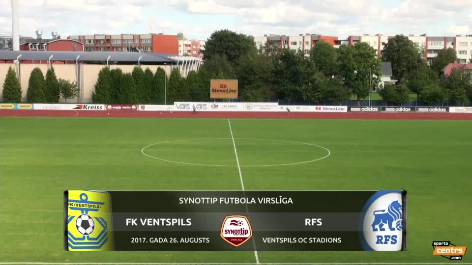 VIDEO: FK Ventspils - RFS 1:2 spēles momenti (26.aug.)