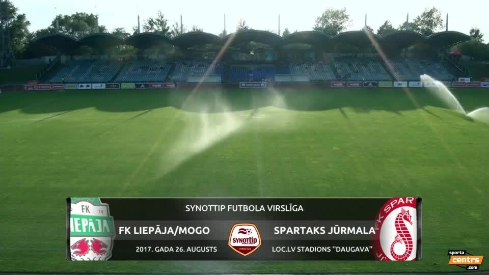 VIDEO: FK Liepāja - Spartaks Jūrmala 1:2 spēles momenti (26.aug.)