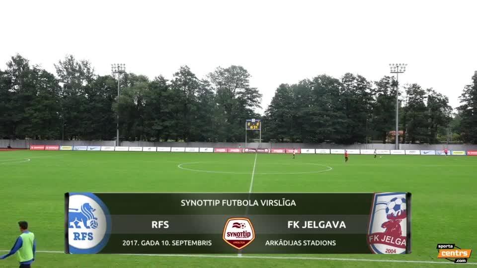 VIDEO: RFS - FK Jelgava 3:0 spēles momenti (10.sep.)