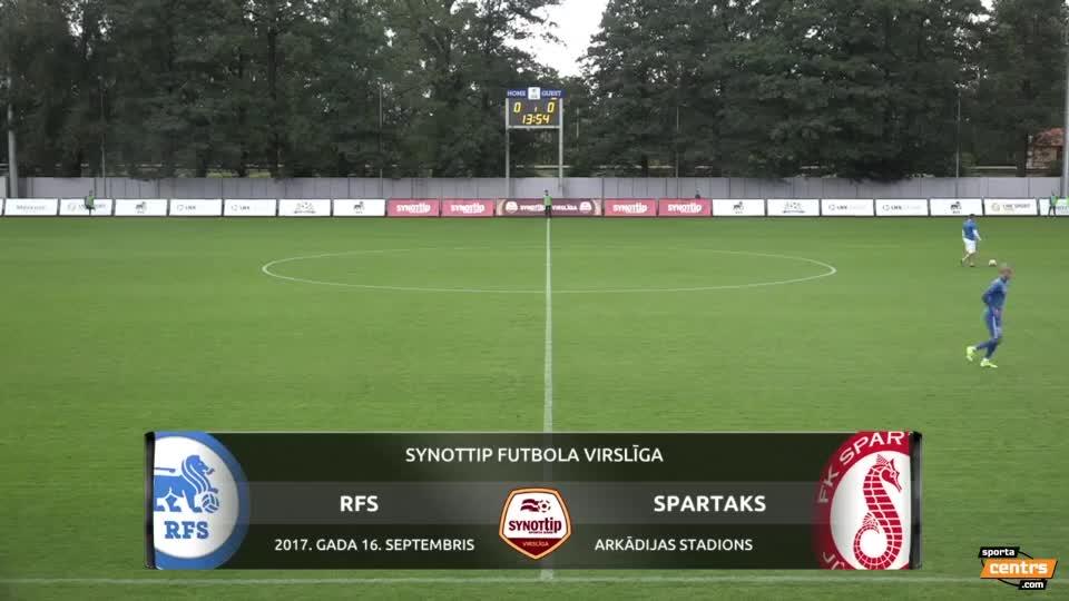 VIDEO: RFS - Spartaks Jūrmala 1:0 spēles momenti (16.sep.)