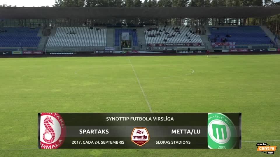 VIDEO: Spartaks Jūrmala - FK Metta/LU 3:1 spēles momenti (24.sep.)