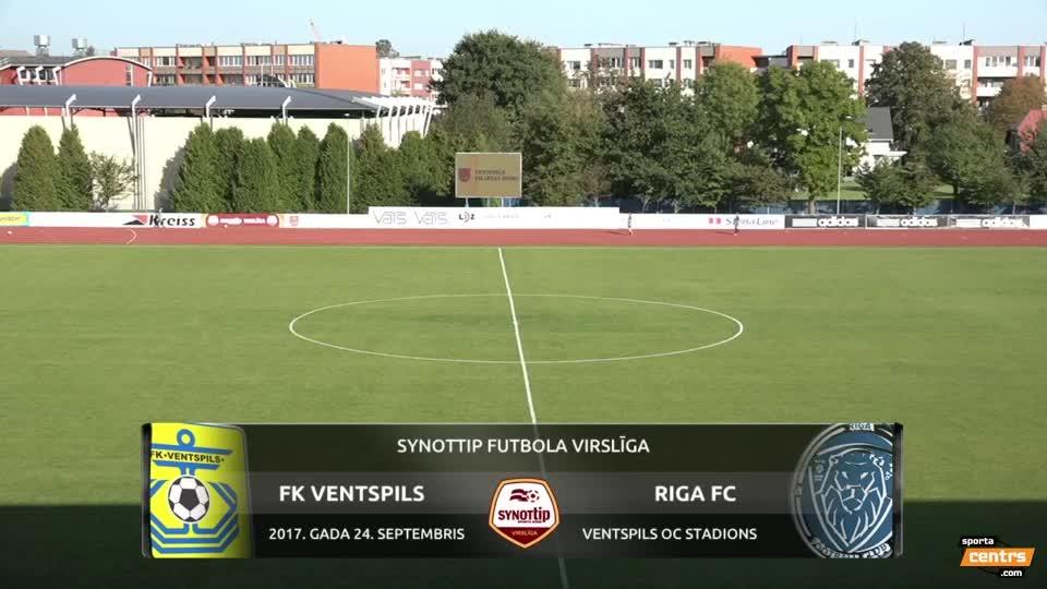 VIDEO: FK Ventspils - Riga FC 0:2 spēles momenti (24.sep.)