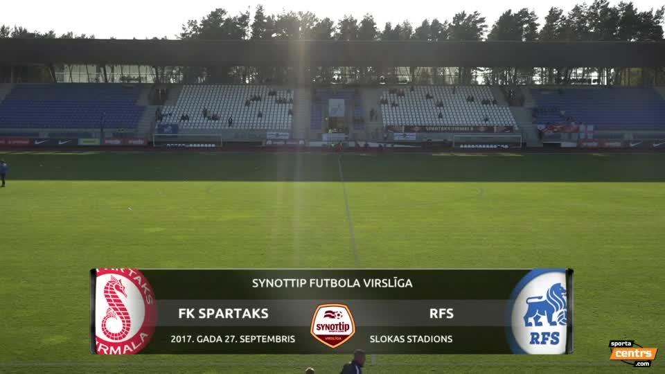 VIDEO: Spartaks Jūrmala - RFS 1:3 spēles momenti (28.sep.)