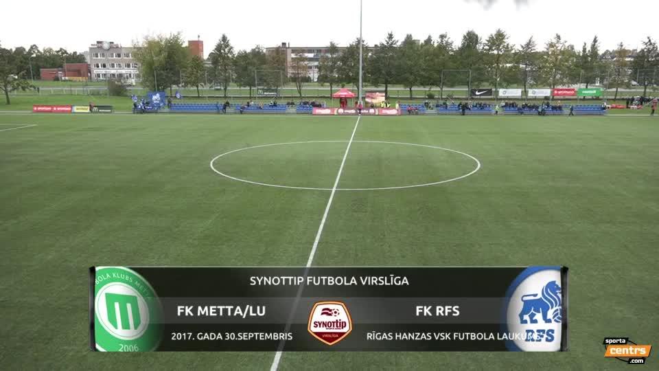 VIDEO: FK Metta/Latvijas Universitāte  - RFS 2:0 spēles momenti (30.sep.)