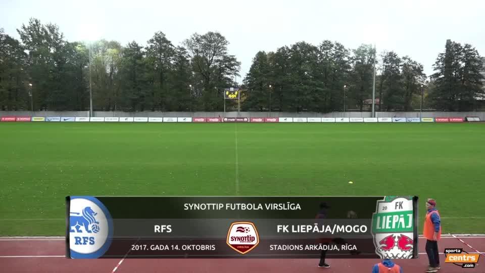 VIDEO: RFS - FK Liepāja/Mogo 1:2 spēles momenti (14.okt.)