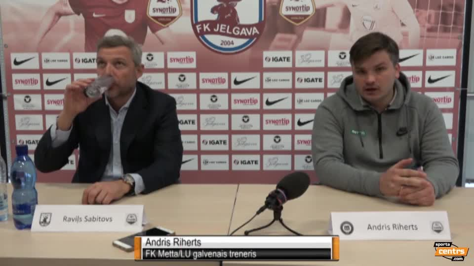 VIDEO: FK Jelgava - FK Metta/LU 1:1 preses konference (22.okt.)