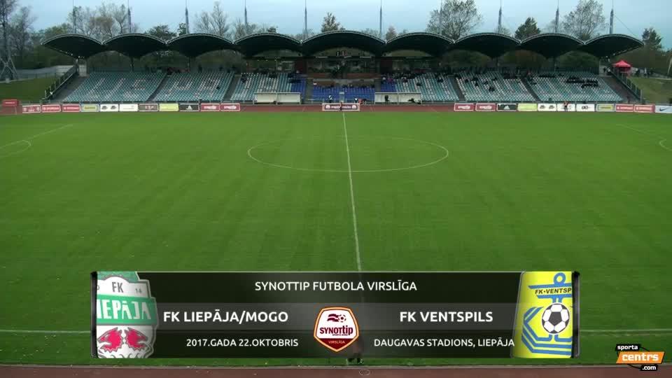 VIDEO: FK Liepāja/Mogo - FK Ventspils 1:1 spēles momenti (22.okt.)