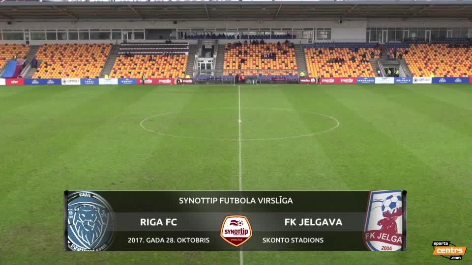 VIDEO: Riga FC - FK Jelgava 2:2 spēles momenti (28.okt.)