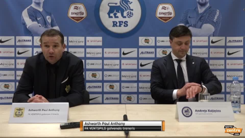 VIDEO: RFS - FK  Ventspils 2:4 preses konference (28.okt.)