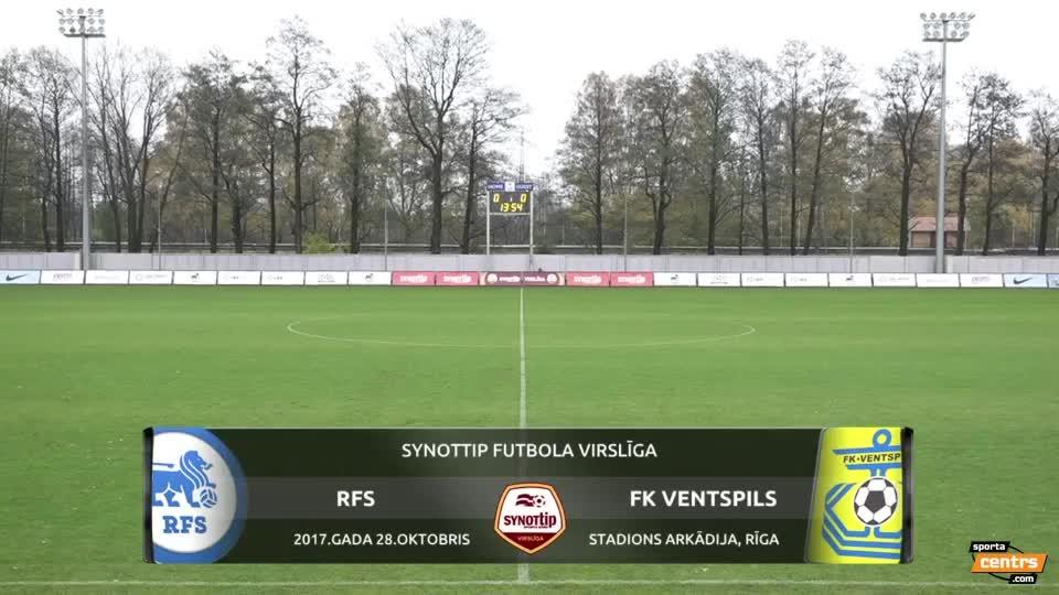 VIDEO: RFS - FK  Ventspils 2:4 spēles momenti (28.okt.)