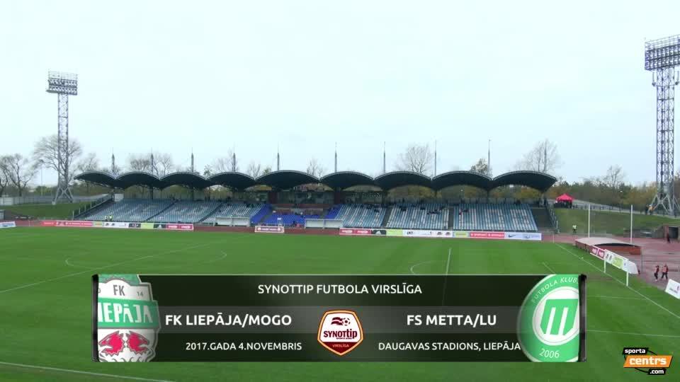 VIDEO: FK Liepāja/Mogo - Metta/LU 1:0 spēles momenti (4.nov.)